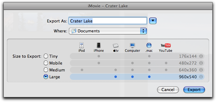 Guide to iMovie Expert Export Mode